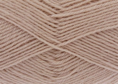 King Cole Pure Wool Yarn 500g Cone 4ply - Biscuit